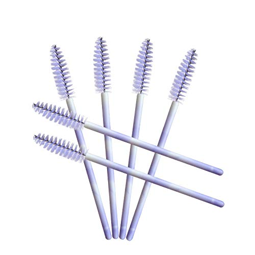 100 Pack Mascara Wands Disposable Eyelash Brushes for Eye Lash Extensions Makeup Brush Applicators One-off Use Cosmetic…