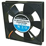 Fan 24VDC, 120mm x 25mm, 74.5 CFM, Sleeve Bearing