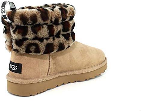 UGG W Fluff Mini Quilted Leopard, Stivali Donna: Amazon.it
