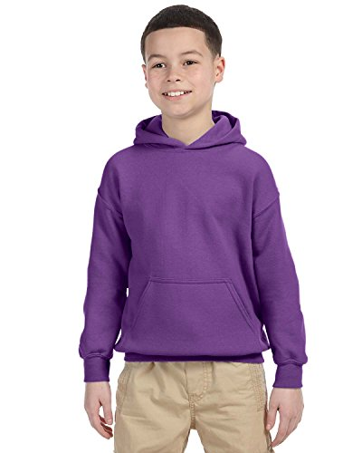 Gildan Heavy Blend Youth Hooded Sweatshirt, Purple , Medium