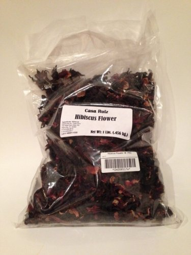 Casa Ruiz Hibiscus Flower - 1 Lb Bag - Hibiscus Sabdariffa - Red Sorrel, African Mallow - Indian Sorrel, Jamaica Sorrel - Jamaica Tea Flower - Roselle