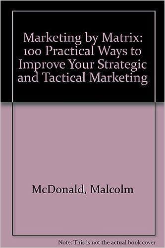 marketing by matrix 100 practical ways to improve your strategic