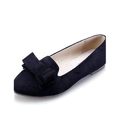 la moitié meilleur grossiste site autorisé PDX/Chaussures Femme daim Talon Plat Confort/Bout Pointu ...