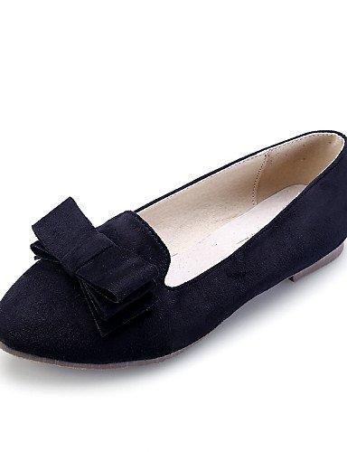 PDX/ Damenschuhe - Ballerinas - Kleid / Lässig - Wildleder - Flacher Absatz - Geschlossene Zehe / Komfort / Spitzschuh -Schwarz / Blau / Rosa , black-us7.5 / eu38 / uk5.5 / cn38 , black-us7.5 / eu38 /