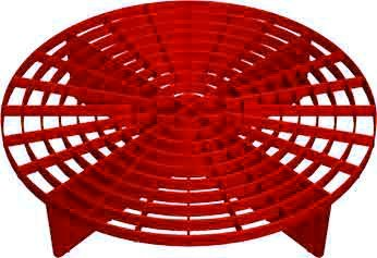 Wash Bucket (The Grit Guard Insert (Red) - Fits 12 inch Diameter Bucket)