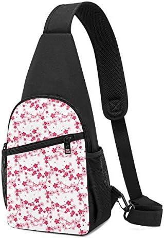 ボディ肩掛け 斜め掛け 幾何の図案 花柄 ショルダーバッグ ワンショルダーバッグ メンズ 軽量 大容量 多機能レジャーバックパック