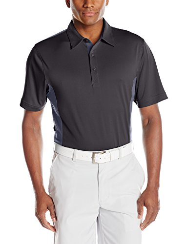Cutter & Buck Men's CB Drytec Willows Colorblock Polo, Black/Onyx, Medium