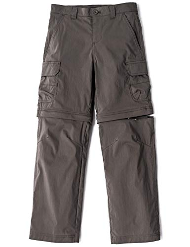 CQR Kids Outdoor Adventure Youth Pants Hiking Camping Stretch Durable UPF 50+ Quick Dry Cargo Trousers, Driflex(bxp432) - Brown, Large (14/16) (Best Quick Dry Pants)