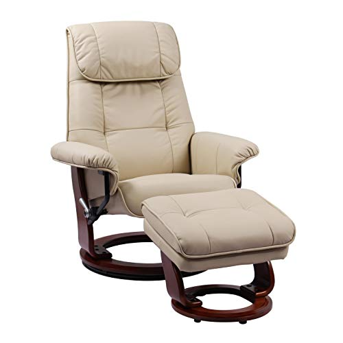 Coja by Sofa4life C-Tau Leclair Leather Recliner and Ottoman ()