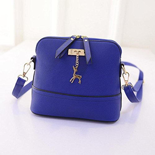 Small with with Deer Clearance Tassel Crossbody Bag CieKen Lightweight Blue Medium Pendant qXwf8U