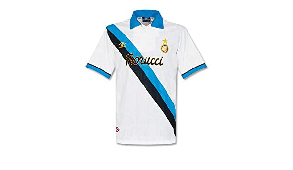93 - 95 Inter de Milán Away Camiseta - Grade 8 Blanco blanco Talla ...