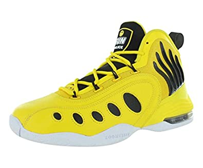 We would say that this best Nike basketball shoe has a cool design on it  for men. It has some dots on two sides with flame detail on the sides of  the ...