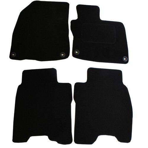 JVL Fully Tailored Car Mat Set with 4 Clips - 4 Pieces, Black 2591