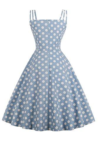 Bretelles Rockabilly Vintage Audrey 3 Bleu pin Swing Femme Babyonlinedress anne Robe Hepburn rtro up Chic Soire 1950 7ZHfxgw
