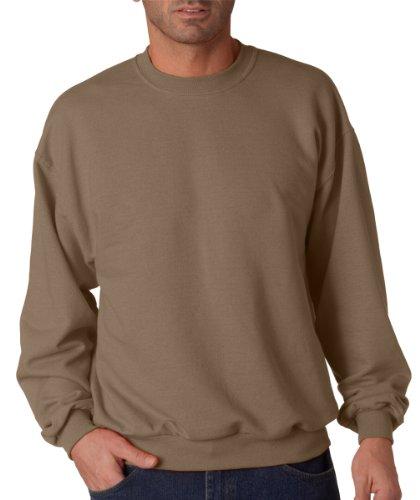 Jerzees Mens Nublend Long Sleeve Crewneck Fleece Sweatshirt Safari Small
