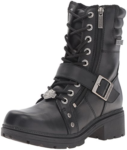 Harley-Davidson Women's Talley Ridge Motorcycle Boot, Black, 9 M US