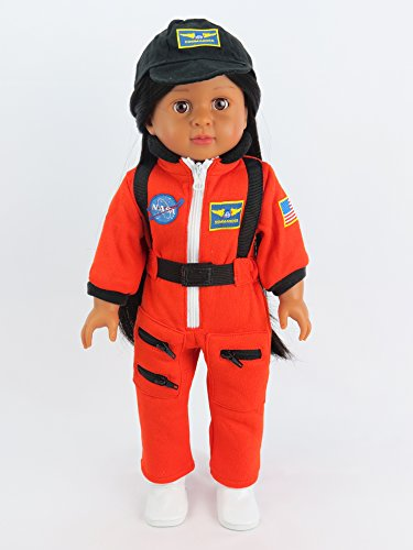 Orange Astronaut Space Suit   Fits 18  American Girl Dolls  Madame Alexander  Our Generation  Etc    18 Inch Doll Clothes