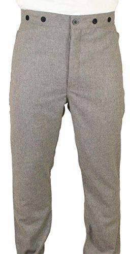 Historical Emporium Men's High Waist Melville 100% Wool Dress Trousers 34 -