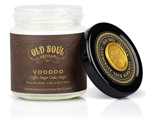 Voodoo - Coffee Scented Soy Candle - Inspired by Marie Laveau and New Orleans Magic -