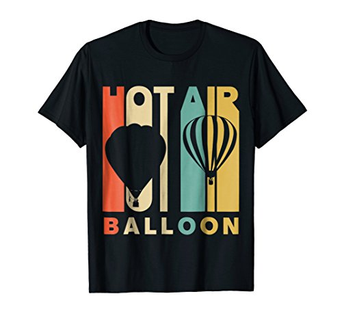 Vintage Style Hot Air Balloon Silhouette T-Shirt