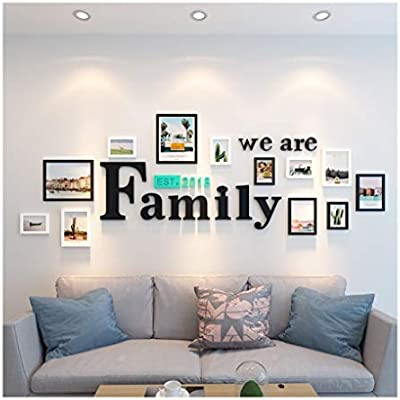 Yshca Picture Frames Wall Art Gallery Photo Frame Value Set Solid Wood Photo Frames Picture Photo Collage Frame In Family Living Room And Bedroom Black And White Buy Online At Best Price