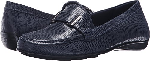 Walking Cradles Womens March Loafer Flat Navy Patent Lizard Leather QVlgzLoIi1