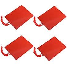 Icstation 12V 25W Flexible Silicone Rubber Heater Mat Constant Temperature 80X100mm (Pack of 4)