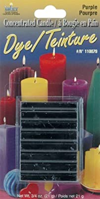 Concentrated Candle Dye .75oz Blocks-Purple from Yaley