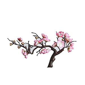 6Pcs Artificial Cherry Blossom Flowers, Plum Blossom Peach Branches Silk Tall Fake Flower Arrangements for Home Wedding Centerpieces Decoration, Light Pink 103