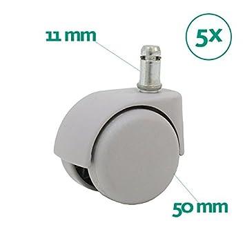 Centrosilla Ruedas Silla Oficina Gris 11 mm/50 mm Juego de Repuesto ...