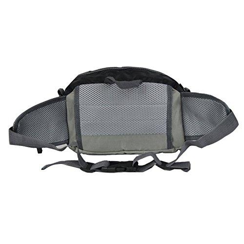 Unisex el pecho GSPStyle de nailon bolsa para raquetas de tenis deportivas para hombre para el hombro de Cruz ajustable en cintura para senderismo Camping cuerpo negro - negro