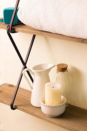Avignon Home Rustic Wood Floating Shelves - Wall Storage Shelves for Living Room, Bedroom, Bathroom, Kitchen - Wall Mounted Hanging Shelves - Vintage Style Shelf Décor by Avignon Home (Image #4)