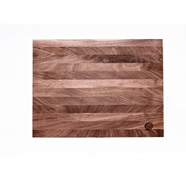Burl & Blade Walnut Cutting Board Butcher Block - 16  x 24  Professional Grade Wooding Serving Board and Chopping Board – Handmade in the USA