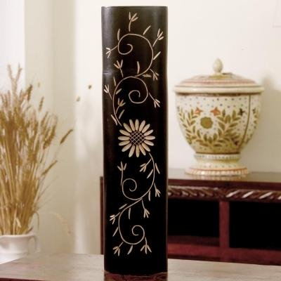 Buy Floral Longn Strong Black Vase Wooden Flower Vases Online At