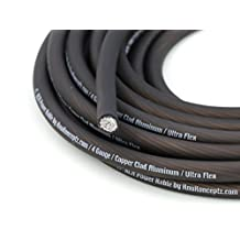 KnuKonceptz KCA 4 Gauge Black Ultra Flex CCA Power Wire Cable 20 Feet