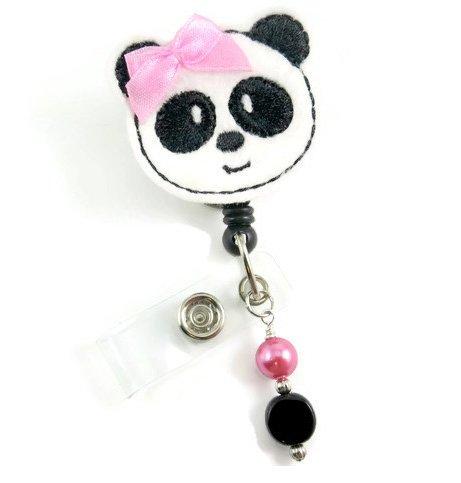 Adorable Panda Bear - Nurse Badge Reel - Retractable ID Badge Holder - Nurse Badge - Badge Clip - Badge Reels - Pediatric - RN - Name Badge Holder