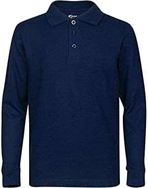 Men???s Long Sleeve Polo Shirts ??? Stain Guard Polo Shirts For Men