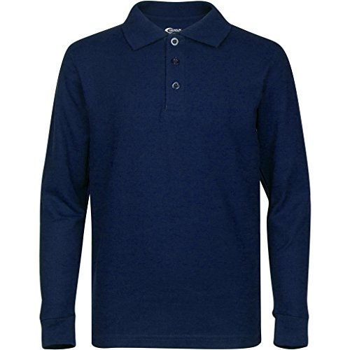 Mens Navy Long Sleeve Polo Shirts XL - Blue Long Sleeve Polo Shirt