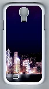 Hong Kong Night PC Case Cover for Samsung Galaxy S4 and Samsung Galaxy I9500 White