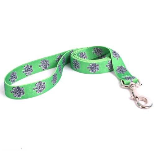 Yellow Dog Design Knotted Shamrocks Lead, 3/8-Inch by 60-Inch