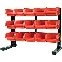 MaxWorks 80695 Bench/ Table Top 15-Bin Parts Rack