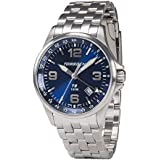 Torgoen T9 Blue GMT Pilot Watch | 42mm - Metal Strap