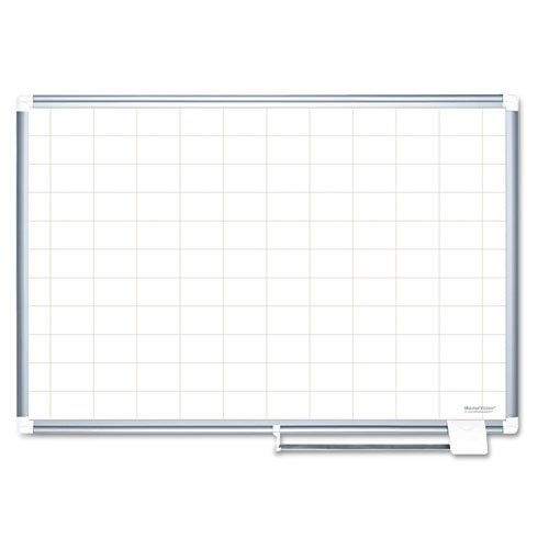 MasterVision MasterVision Grid Planning Board, 2x3 Grid, 72x48, White/Silver