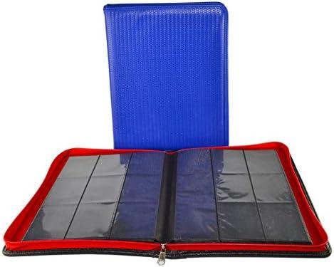 Dex ProLine Portfolio 9 Pocket Zipper Blue