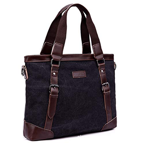 Para Black De Bag Satchel Canvas Hombro Messenger Honneury Viaje Mujeres Hombres Briefcase Ipad Bolso Senderismo Vintage Crossbody O0anWa