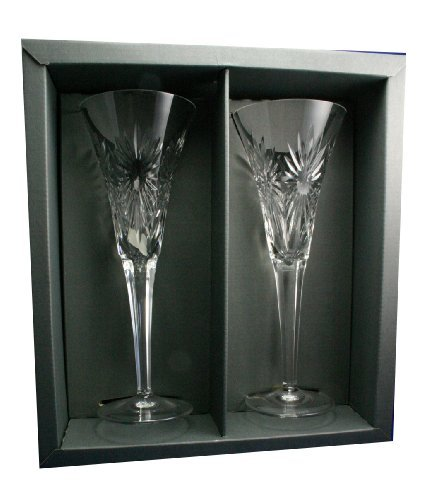 Waterford Millennium HEALTH Toasting Flutes Pair NIB by Waterford