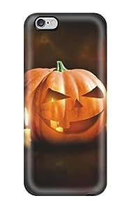 Durable Halloween Pumpkin Orange Pumpking Holes Candles Halowen Haloowen Hallooween Hallowen Haloween Costum Holiday Halloween Back Case/cover For Iphone 6 Plus