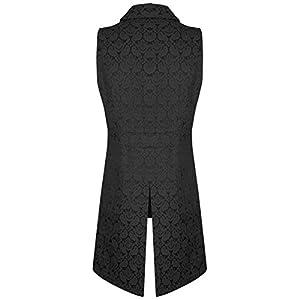 Darkrock Men's Double Breasted Governor Vest Waistcoat VTG Brocade Gothic Steampunk