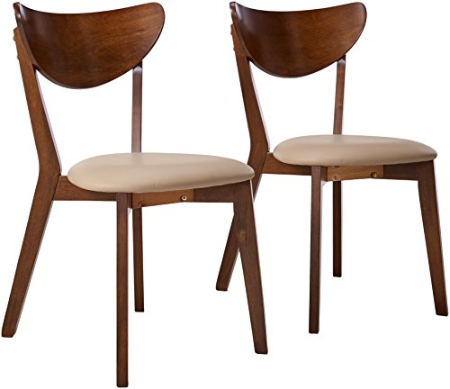 Kersey Dining Side Chairss with Curved Backs Off-white and Chesnut (Set of - French Walnut Chairs