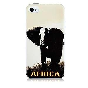 HP-Patrón de elefante Caso de silicona suave para iPhone5/5S